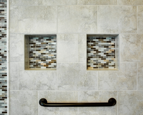 grab bars in shower for aging-in-place