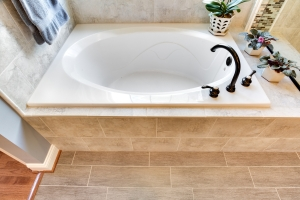 master suite drop-in tub