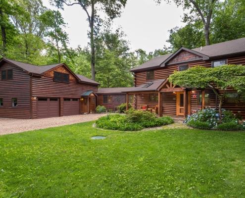 log home addition