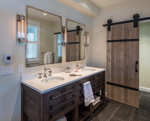 rustic & contemporary bathroom