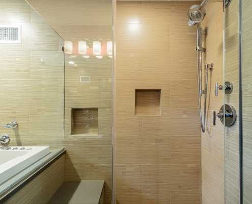 walk-in shower for master suite