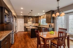 kitchen remodel in wood tones