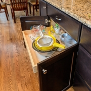 pull outs make accessing cabinetry easier