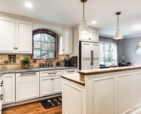 Alexandria Kitchen Remodel tuscan style with Niva honed granite countertops