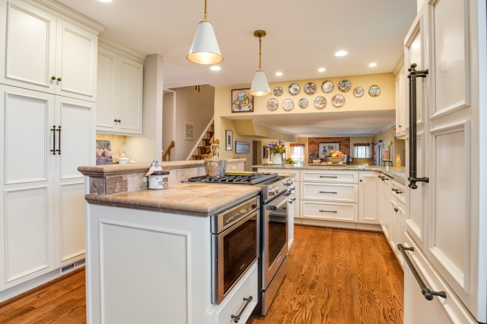 Alexandria Kitchen Remodel tuscan style with granite countertops with honed finish