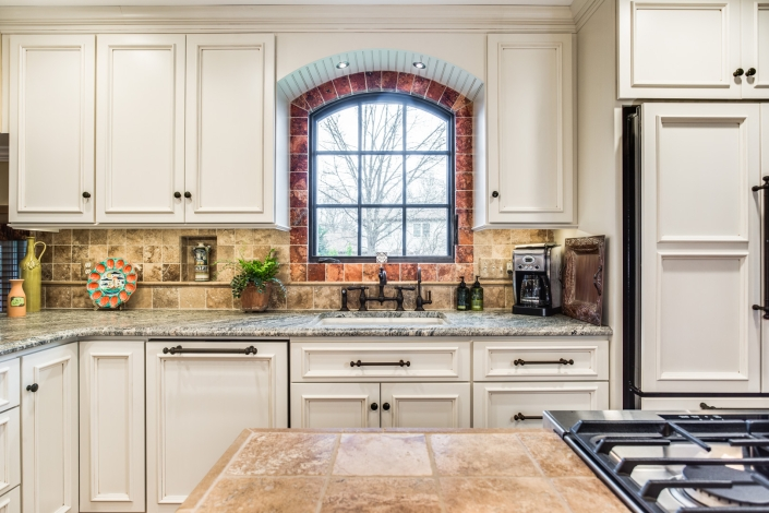 Alexandria Kitchen Remodel with custom single arch casement window