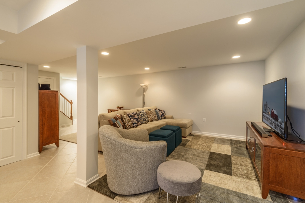 annandale basement remodel with family room