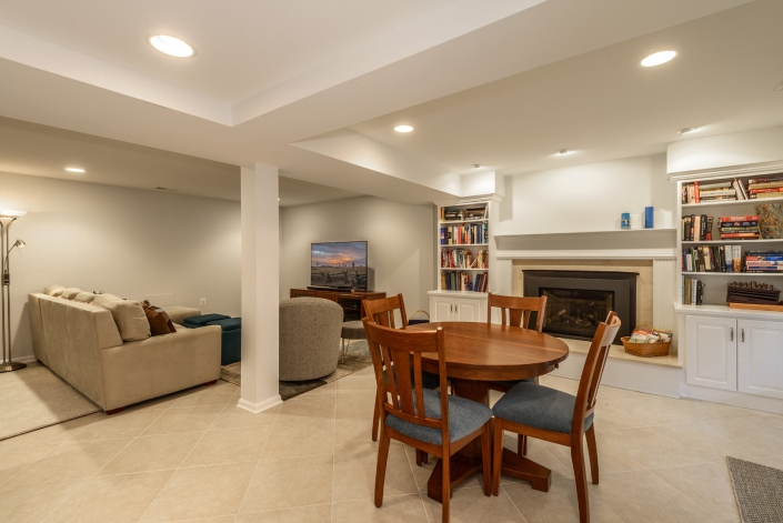 annandale basement remodel with game area