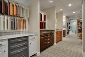showroom cabinet options