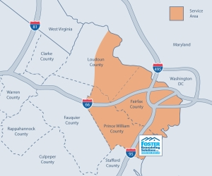 foster remodeling service area map