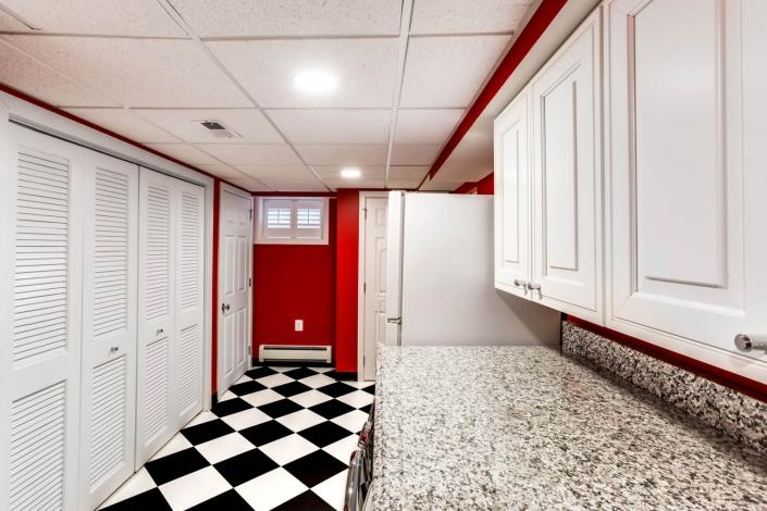 Arlington Basement Laundry and Bathroom