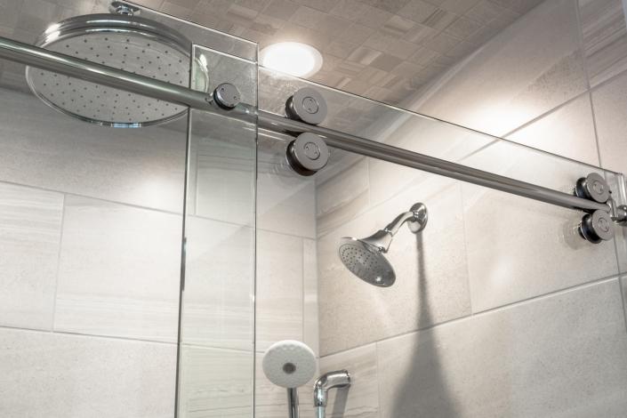 Lorton Master Bathroom - Glass Shower Door