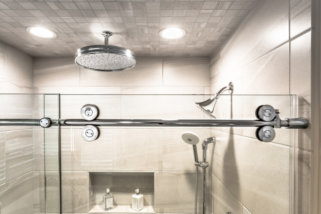 Lorton Master Bathroom - Glass Shower Door hardware