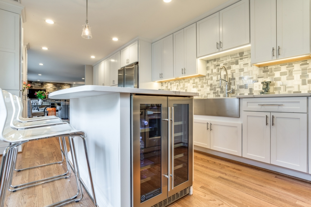 Vienna Kitchen Remodel - wine fridge