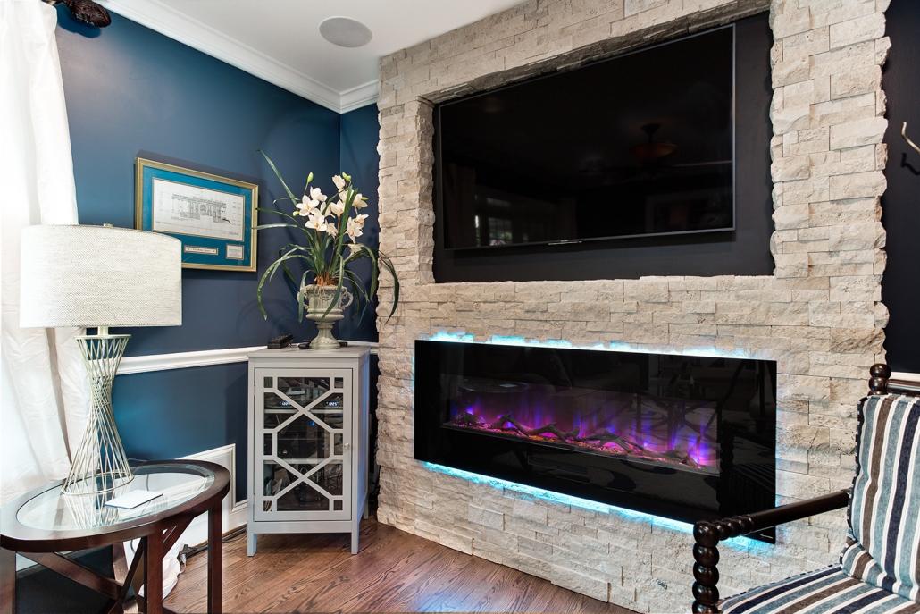 Springfield, VA Electric Fireplace Install