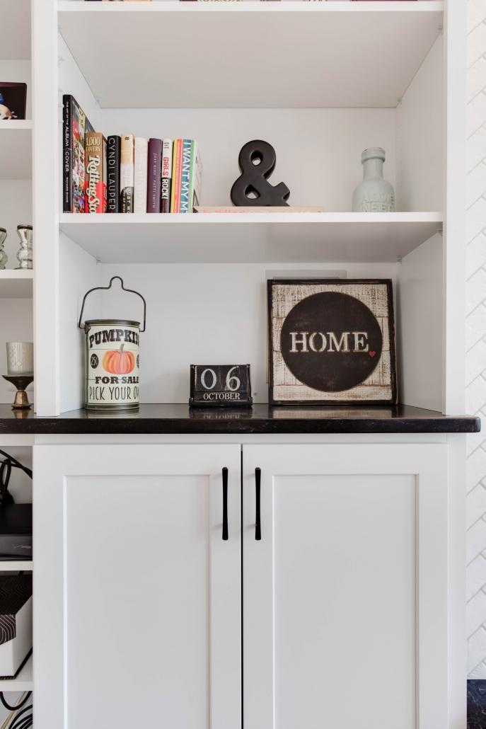 Living Room Built-ins, custom interior remodeling, Fairfax VA, fireplace wall
