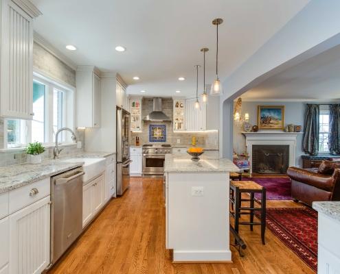 Kitchen remodel Alexandria, VA with Crystal cabinets and 1/4' oak hardwood flooring
