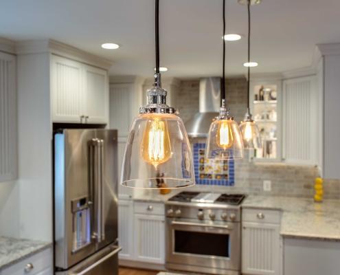 kitchen remodeling, Alexandria, VA featuring pendant lighting