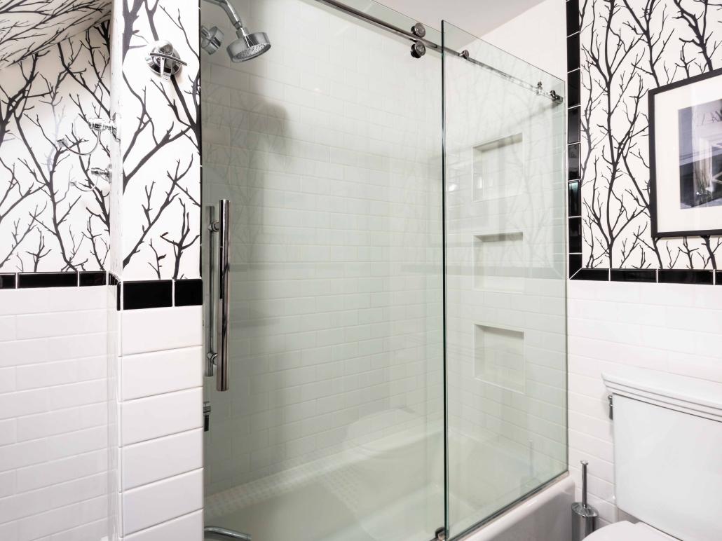 Alexandria Bathroom Remodel with Century Centec Barn style shower door
