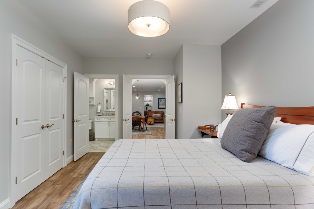 Alexandria Basement Suite with Bedroom addition and bathroom, living space