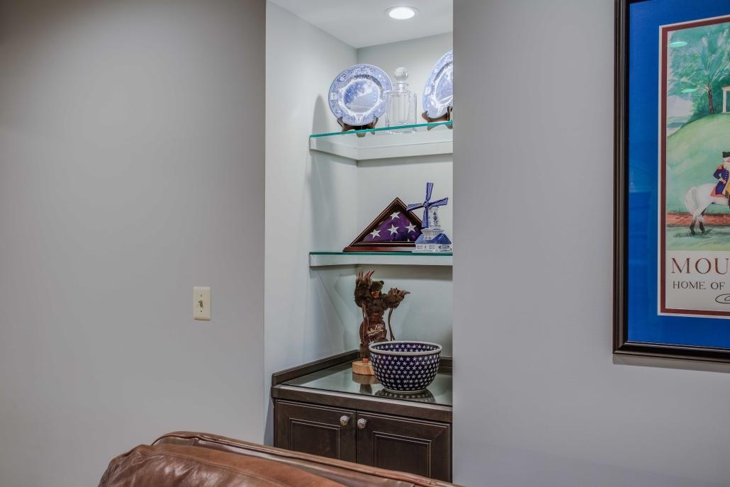 In-Law Suite, basement Remodel, Alexandria, VA Custom shelving