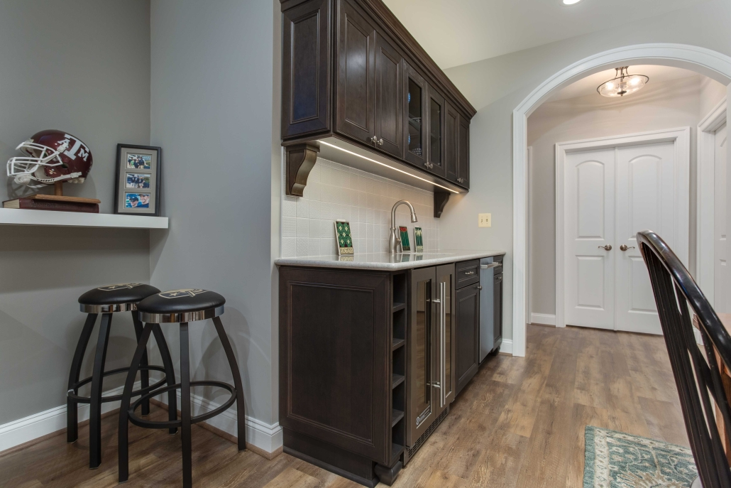 Basement remodel, Alexandria, VA with kitchenette for in-laws