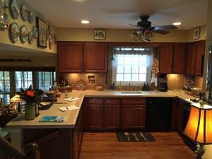 Alexandria, VA, kitchen remodel, U-shaped dark, before photo 2