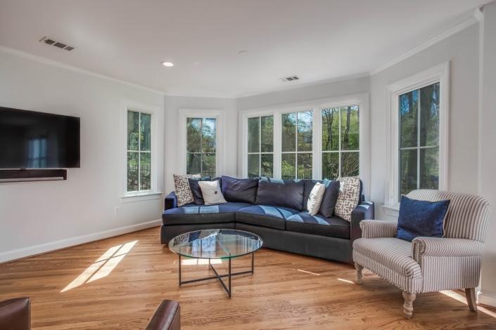 custom home addition, Arlington, VA with Marvin Ebony windows, custom hardwood floors
