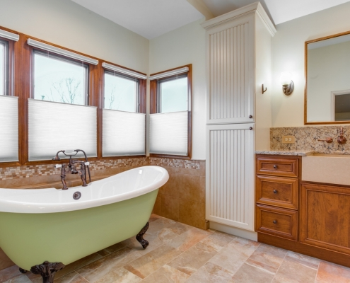 Master Bathroom Remodel, by Foster Remodeling Solutions, Centreville, VA with custom Rosalind acrylic clawfoot tub