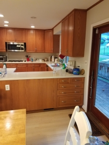 Fairfax VA kitchen remodel before picture older style U shaped