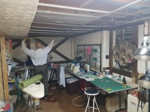 Basement remodeling, Herndon, VA craft room, before photo1