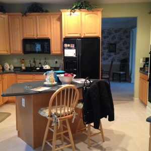 Kitchen remodeling, Springfield, VA, black appliances, before photo1
