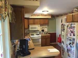 small kitchen remodel, Springfield, VA with laminate countertops, before photo 3