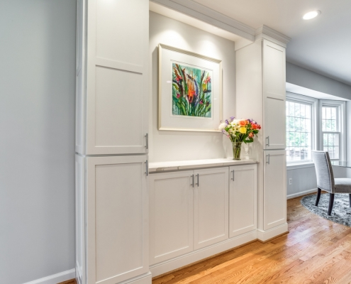 Interior remodeling, Foster Remodeling Solutions, Vienna, VA Jim Bishop cabinets with Danbury Door style