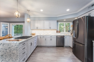 Woodbridge VA custom kitchen remodel with Waypoint cabinets and Cambria countertops