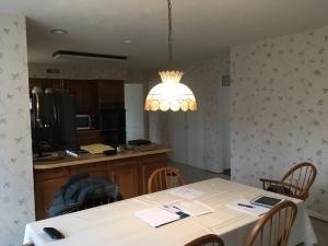 woodbridge kitchen remodel before photo dark old kitchen with wallpaper
