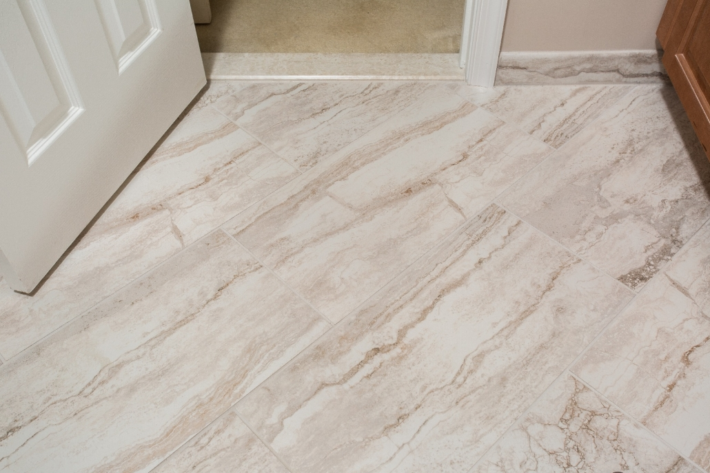 Aging in Place Bathroom Remodel Woodbridge with MSI Bernini Bianco Matte tile flooring