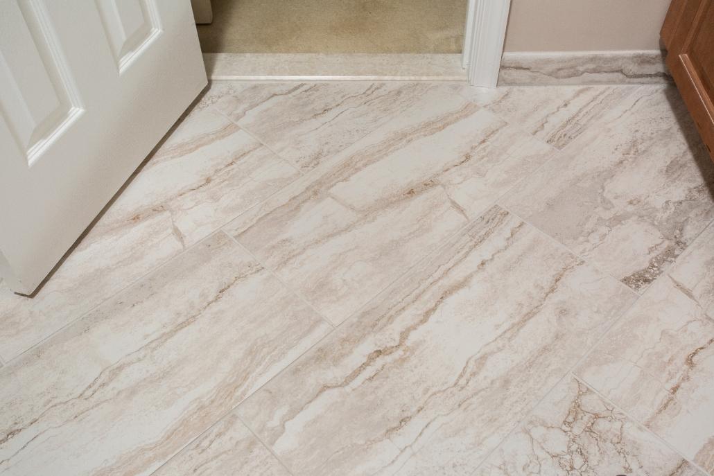 Aging in Place Bathroom Remodel Woodbridge with MSI Bernini Bianco Matte tile flooring