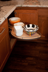 cabinet organization with pull out shelves