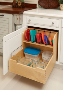 organizational cabinets with lid holder