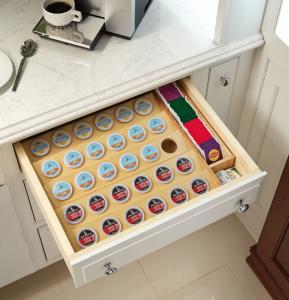 cabinet organization coffee pod holder
