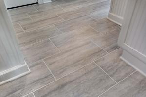 Fairfax Station Master Bath Remodel with MSI Veneto Gray tile floors