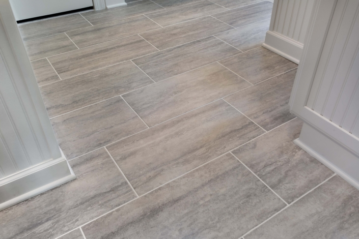 Fairfax Station Master Bath Remodel with MSI Veneto Gray tile floors