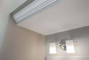 Fairfax Station Master Bath Remodel with Moen Polished Chrome vanity lighting