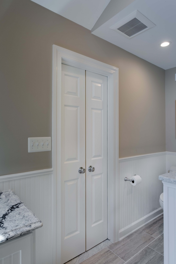 Fairfax Station Master Bath Remodel with double door entry
