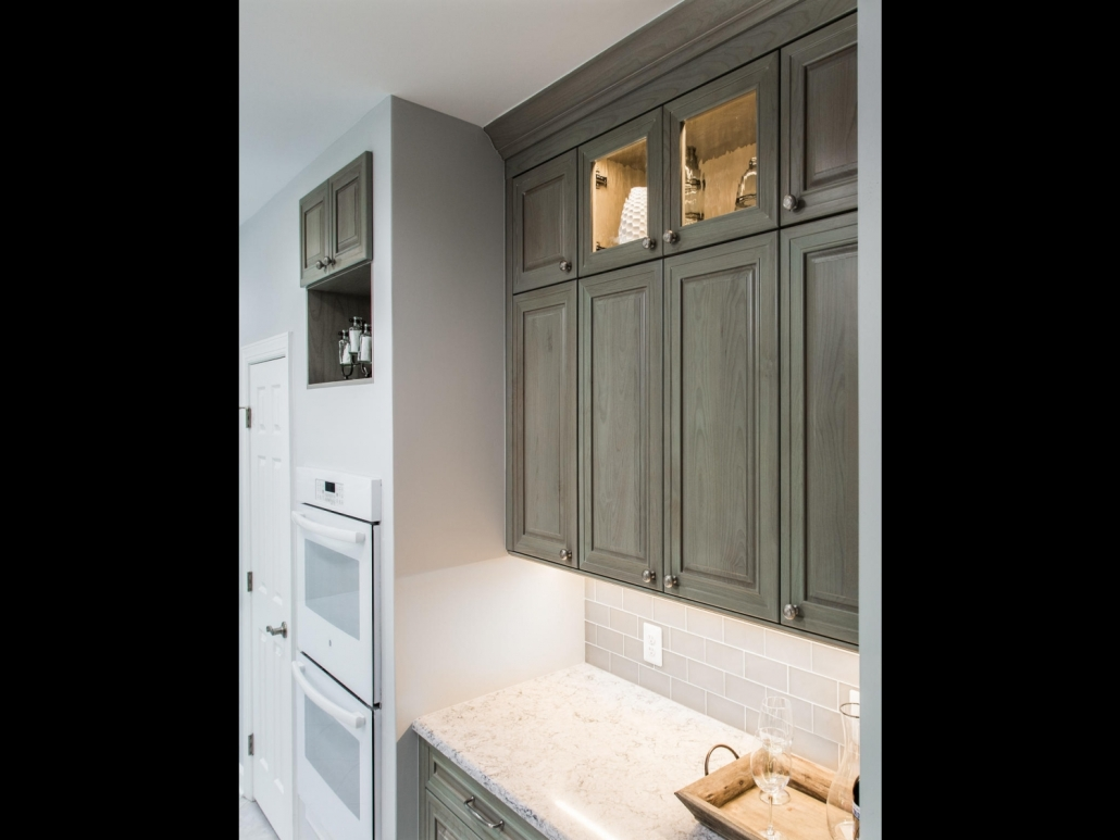 Springfield Kitchen Remodel with Crystal cabinets with in cabinet lighting