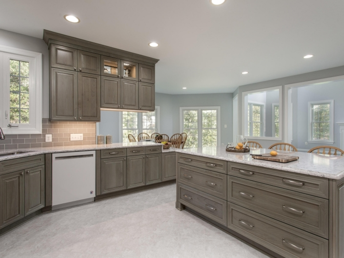 Springfield Kitchen Remodel with Top Knobs Charlotte brushed satin nickel hardware and Crystal Encore cabients