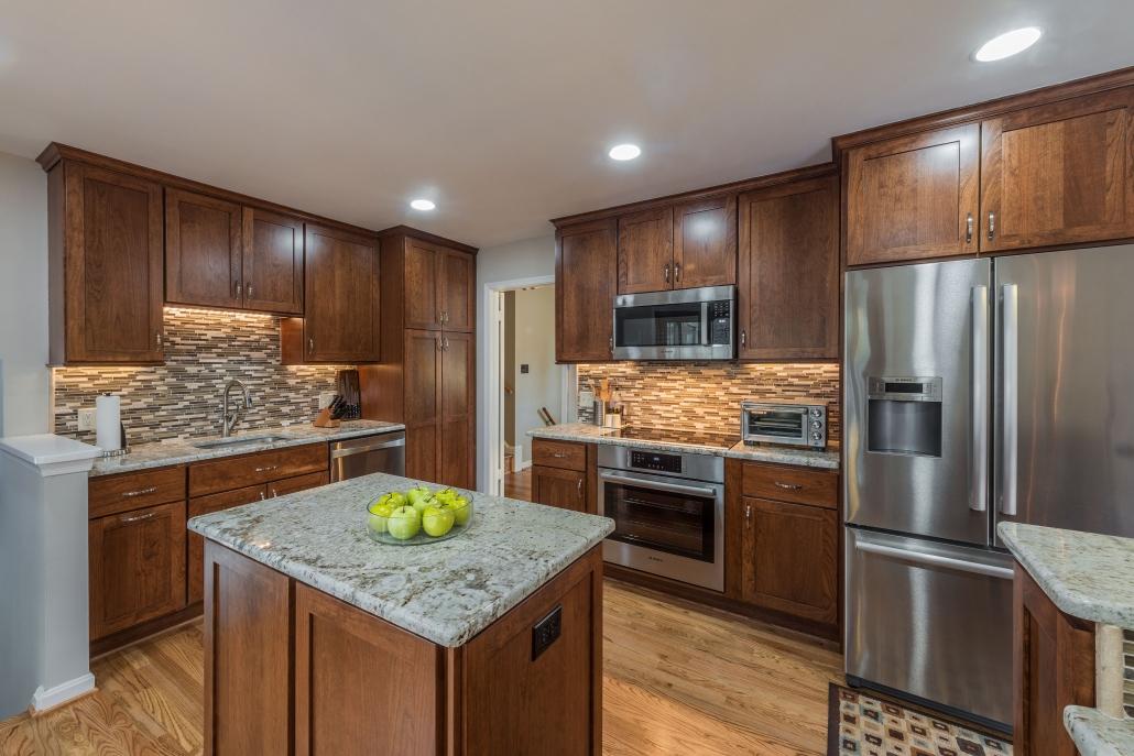 kitchen with dark cabinets annandale va