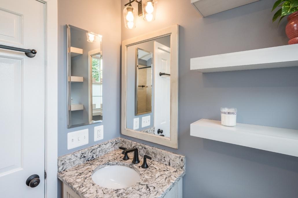 Cozy farmhouse bathroom remodel Foster Remodeling Arlington, va