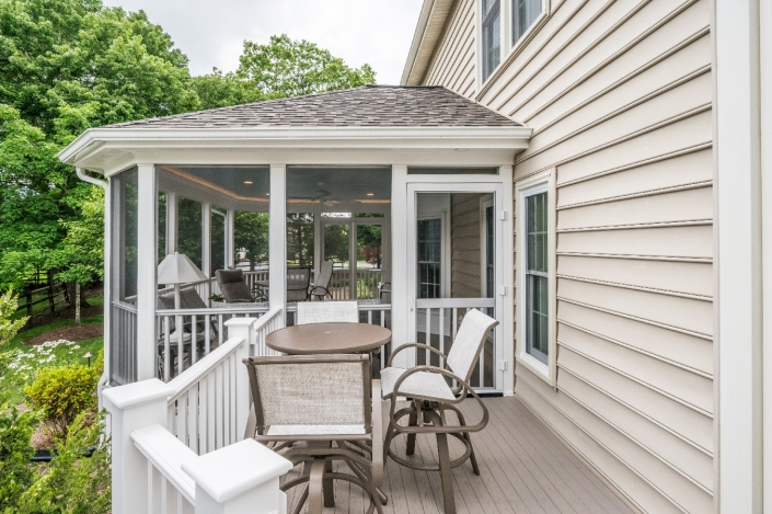 Addition of screen porch for outdoor living in Centreville